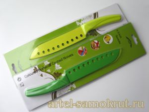 "НОЖ NONSTICK COATED KNIFE-6.5""SANTOKU-YELLOW ЛЕЗВИЕ165ММ"