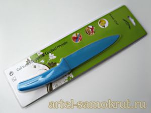 "Нож Nonstick Coated Knife-6""chef-blue лезвие152мм"